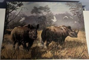 Puzzel of Painting of Rinos (South Africa)