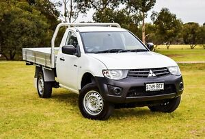 2014 Mitsubishi Triton MN MY15 GL White 5 Speed Manual Cab Chassis Medindie Walkerville Area Preview