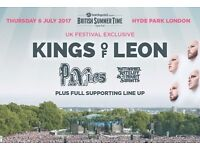 *REDUCED* 2 x Kings of Leon tickets, Hyde Park, 6th July