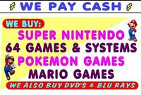 WE BUY & Sell RETRO GAMES--NES--N64--SNES--Gamcube & More!!!!