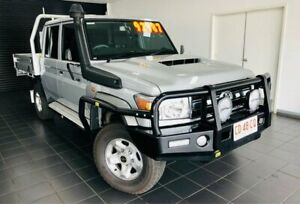 2019 Toyota Landcruiser VDJ79R GXL Double Cab Silver 5 Speed Manual Cab Chassis Berrimah Darwin City Preview