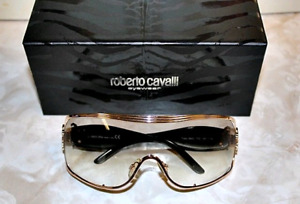 ROBERTO CAVALLI Sunglasses GOLD Frame GREEN Lens DIAMOND Logo