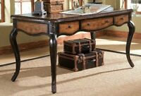 Hooker Queen Anne writing desk leather top