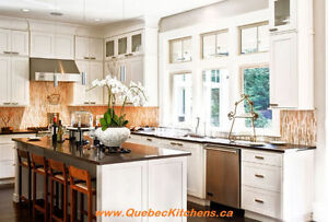 Modern Kitchen All-Wood + Granite, Quartz Countertop @ QK