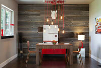 Rustic Barn Wood Feature Walls