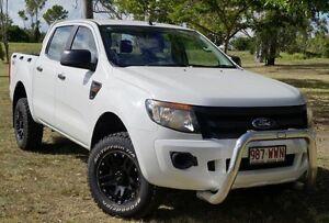 2011 Ford Ranger PX XL Double Cab White 6 Speed Manual Utility Bundaberg West Bundaberg City Preview