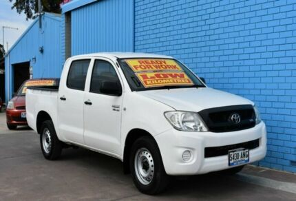 2011 Toyota Hilux GGN15R MY10 SR 4x2 White 5 Speed Automatic Utility Enfield Port Adelaide Area Preview