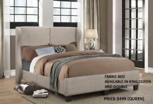 BEIGE FABRIC BEDS ON REDUCED PRICES (IF45)