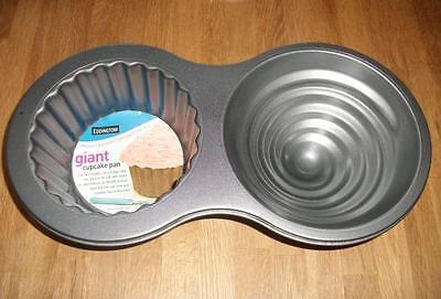 Eddingtons 3D Jumbo Giant Cupcake Tin Pan Non Stick Cup Cake Baking Tray Mould