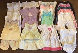 BUNDLE OF BABY GIRL CLOTHES 6-9 MONTHS – 20 + ITEMS
