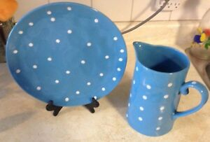 """JUG AND PLATTER IN BLUE. SPRINKLE COLLESTION""""MAXWELL & WILLIAMS Gatineau Ottawa / Gatineau Area image 2"""