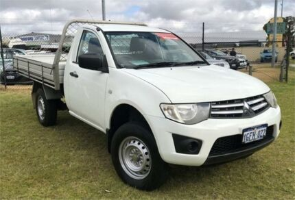 2012 Mitsubishi Triton MN MY12 GLX White 5 Speed Manual Cab Chassis Wangara Wanneroo Area Preview