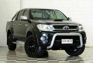 2010 Toyota Hilux KUN26R MY11 Upgrade SR5 (4x4) Black 4 Speed Automatic Dual Cab Pick-up Burleigh Heads Gold Coast South Preview