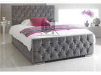 Grey double bed