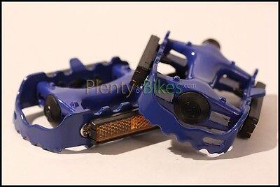 Blue 9/16 Metal Alloy Road Bike Bicycle Mtb Fixie Racing Pedals Set Pair 360104