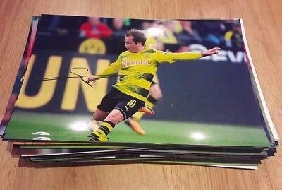Signiertes Foto Mario Götze DFB Borussia Dortmund  NEU 20x30cm