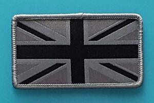 Ecusson patch a coudre drapeau anglais gris noir for A coudre en anglais
