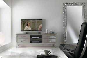 Mobile porta tv basso laccato tortora madreperla soggiorno for Mobile soggiorno basso