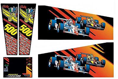 I500 Indianapolis 500 Pinball Machine Cabinet Decals - NEXT GEN - LICENSED
