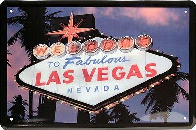 Welcome to fabulous Las Vegas Nevada USA Amerika 20x30 cm Blechschild 1051