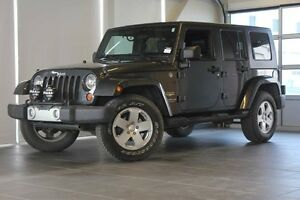 2010 Jeep Wrangler Unlimited Sahara-4X4-Nav-Black Leather Seats-