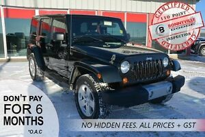 2012 Jeep Wrangler Unlimited SAHARA, UNDER 68,000 KMS
