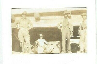 1914 MEXICAN WAR REAL PHOTO POSTCARD U.S. SOLDIERS & SALINAS ARTILLERY GUN!  - Mexican Real Photo
