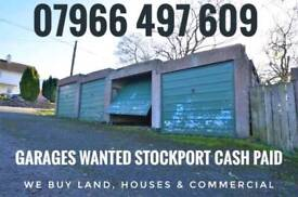 Garage, garages, lockups wanted