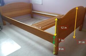 Sturdy Ikea bed with slats - $100 only