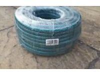 50 Metre Reinforced Garden Hose and Wall Mounted Hose Reel £25