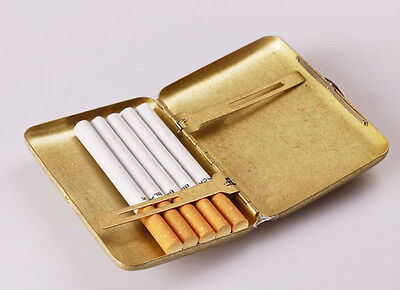 Vintage Collectable Gold Solid Brass/Copper Cigarette Case Holder