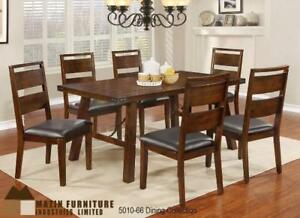 Get Dinning Set in Dark Oak Finish, Hardwood Solids Online (MA275)