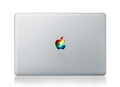 """Apple Logo Cover with galaxy Macbook Air Pro 13"""" 15"""" 11"""" Sticker Decal colorful"""