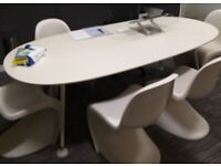 large professional office meeting table boardroom white Vitra