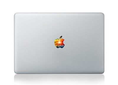 """Apple Logo Cover with sunset Macbook Air Pro 13"""" 15"""" 11"""" Sticker Decal colorful"""