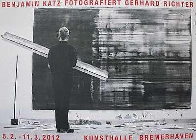 Gerhard Richter/ Benjamin Katz, Ausstellungsplakat, original