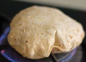 Fresh phulka roti/chapati