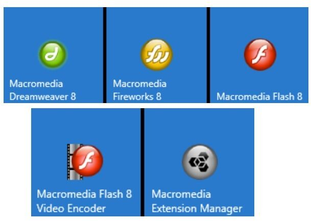 Software - Macromedia 8 / Dreamweaver 8 Full Package Plus serial number - download only.