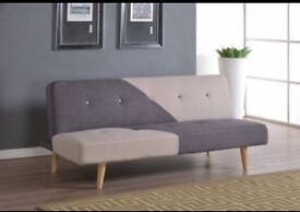 Fabric double sofa bed brand new