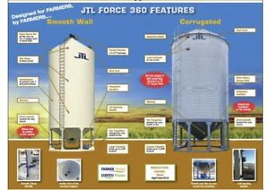 JTL Bins Smooth Galvanized Hoppers Floors DELIVERY INCLUDED