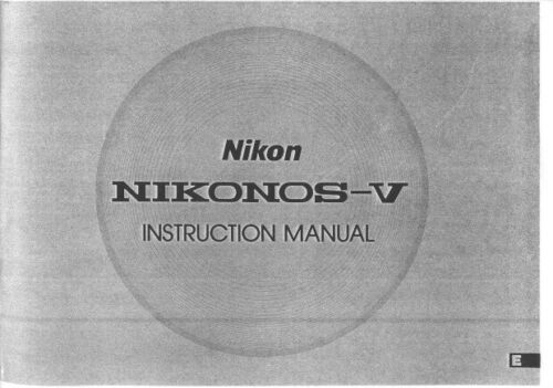 Nikon Nikonos-V Instruction Manual photocopy