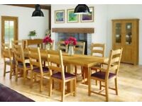 Dining table & 8 chairs - ex display