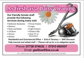 As Fresh As A Daisy Cleaning Fully Insured Home Cleaner Office cleaner Housekeeping Service.