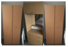 Wardrobes oak look