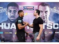 Anthony Joshua vs Vladimir klitschko FLOOR tickets (x4)