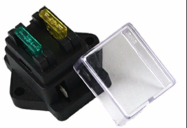 HIGH QUALITY 2 WAY ATO BLADE FUSE BOX HOLDER WITH COVER 12 VOLT 24 VOLT