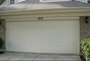 16x7 Garage door (almond)
