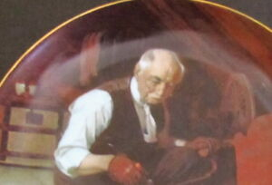 'GRAMPA'S GIFT' Norman Rockwell Collector Plate with Box &Paper