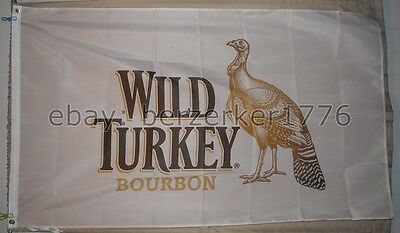 Wild Turkey Kentucky Straight Bourbon Flag Banner  - USA seller shipper