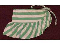 Green & white beach wear bikini sarong 8 / 10